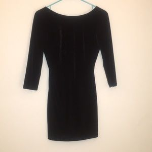 Tobi black velvet bodycon dress